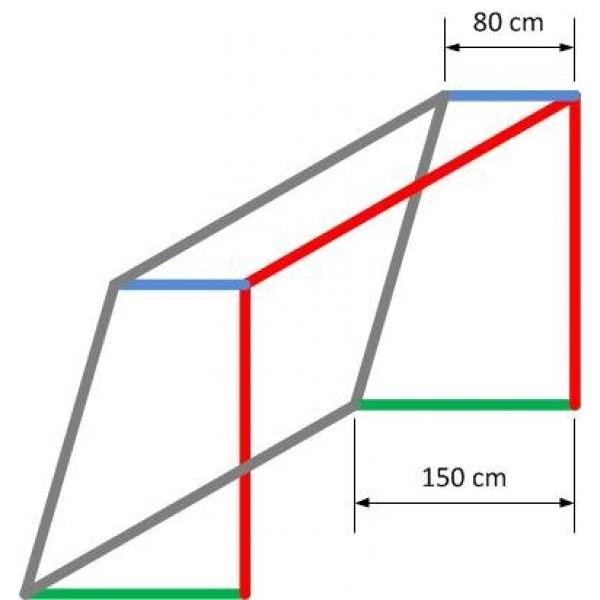 Jugend-Fußballtornetz 5,15 m x 2,05 m, 3 mm stark