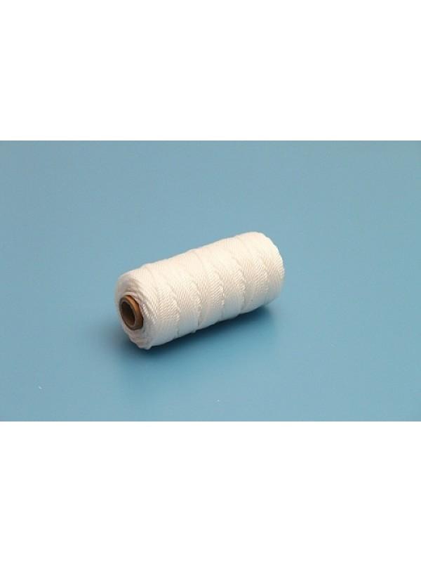 Einbindegarn oder Universalschnur in weiß, gedreht, 50 m lang, 2,2 mm Ø