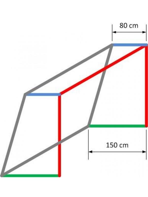 Jugend-Fußballtornetz 5,15 m x 2,05 m, 4 mm stark