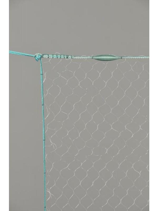Monofil-Kiemennetz, 06 mm Maschenweite, 1,00 m tief, fangertig montiert