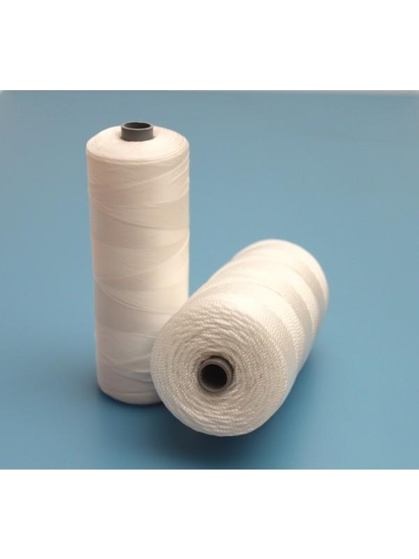 Nylon-Polyamid-Netzgarn 210/18, ca. 0,85 mm stark, in weiß