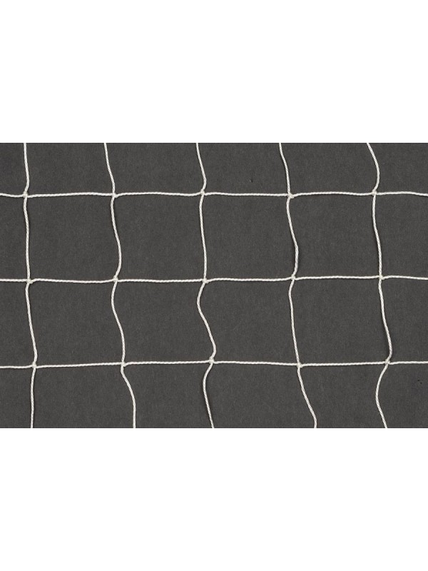 Dekorations- oder Absperrnetz aus geknotetem Polyamid, 30 mm quadratische Maschenweite, 1,1 mm Ø, in weiß