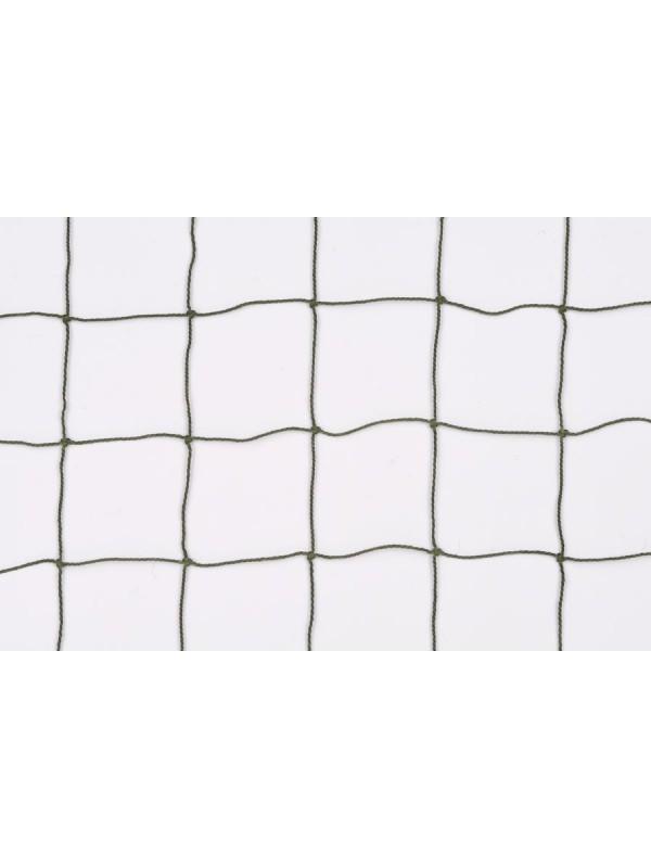 Dekorations- oder Absperrnetz aus geknotetem Polyamid, 50 mm quadratische Maschenweite, 1,1 mm Ø, olivgrün