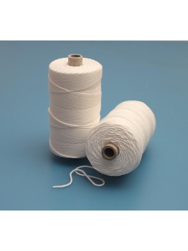 Perlon-Polyamid-Stapelfaser-Netzgarn 20/21 ca. 1,8 mm stark, in weiß