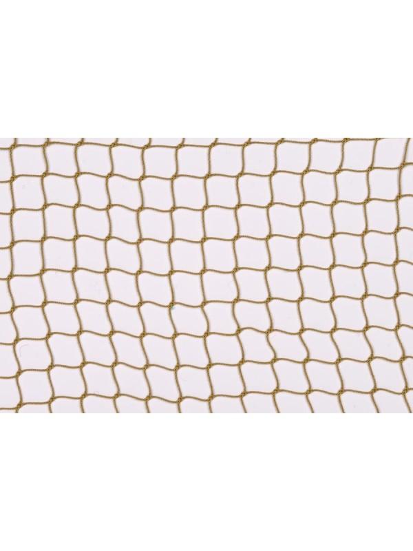 Dekorations- oder Absperrnetz aus PP-hochfest, 20 mm quadratische Maschenweite, 1 mm Ø, in hanffarben