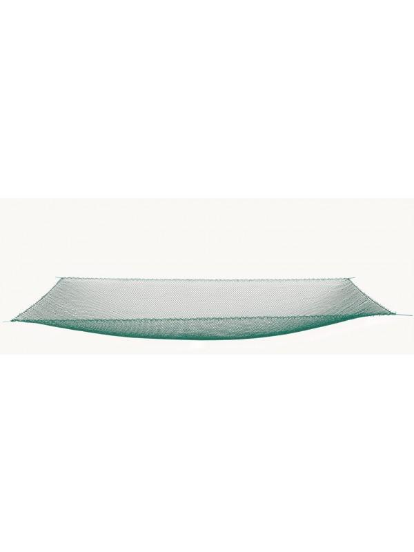 Tauchhamennetz aus Polyamid (Nylon) auch für Senke oder Daubel, 1 m x 1 m, 20 mm Maschenweite, ringsum mit einer Leine eingezogen und an den 4 Ecken jeweils eine Schlinge.