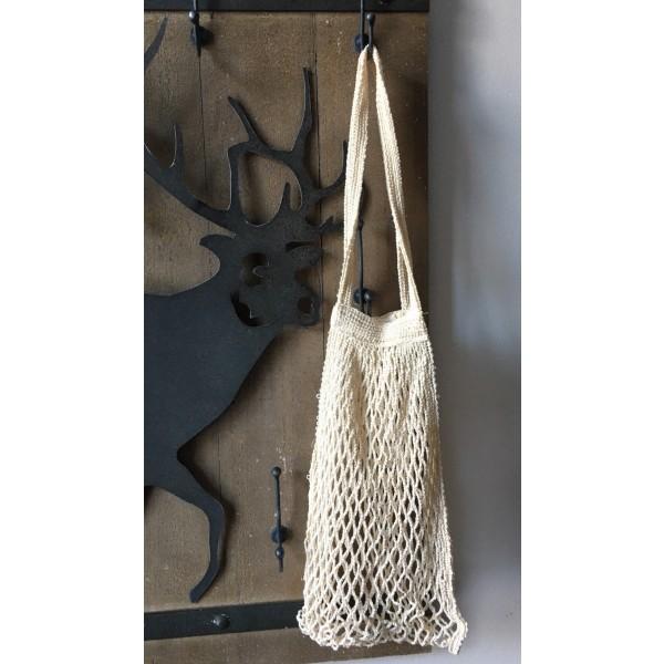Einkaufsnetz aus Baumwolle, Henkel lang