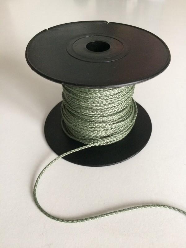 Einbindegarn oder Universalschnur in olivgrün, geflochten, 50 m lang, 1,5 mm Ø