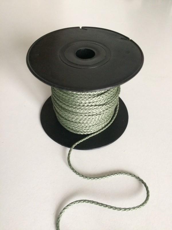 Einbindegarn oder Universalschnur in olivgrün, geflochten, 50 m lang, 2,0 mm Ø