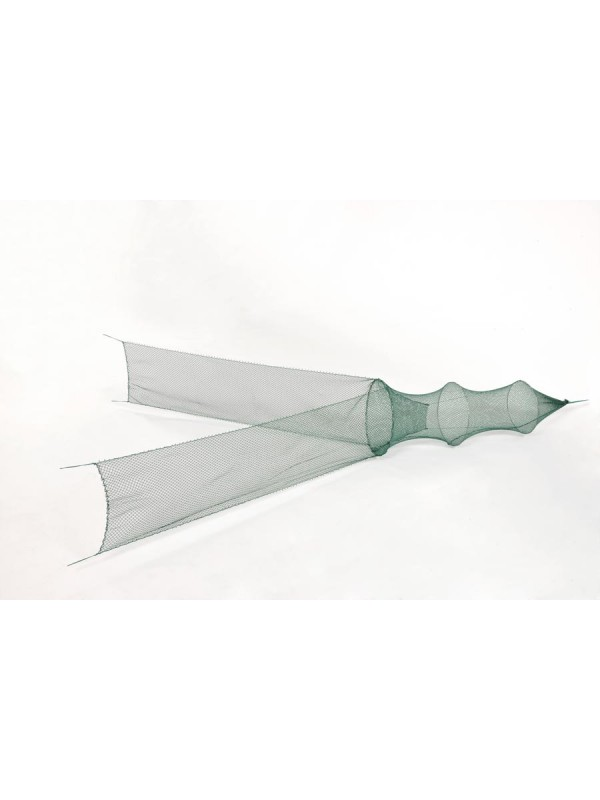 Flügelreuse 1. Reifen 75 cm Ø, 05 mm Maschenweite, 2 Flügel je 1,50 m lang