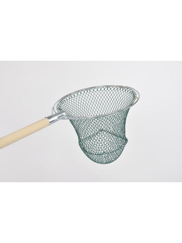 Reformkescherbügel kompl. rund, 50 cm Durchmesser, mit Netz 15 mm Maschenweite