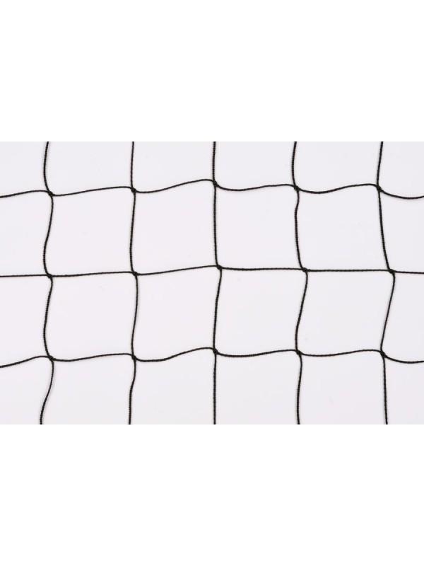 Dekorations- oder Absperrnetz aus PP-hochfest, 50 mm quadratische Maschenweite, 1 mm Ø, in schwarz