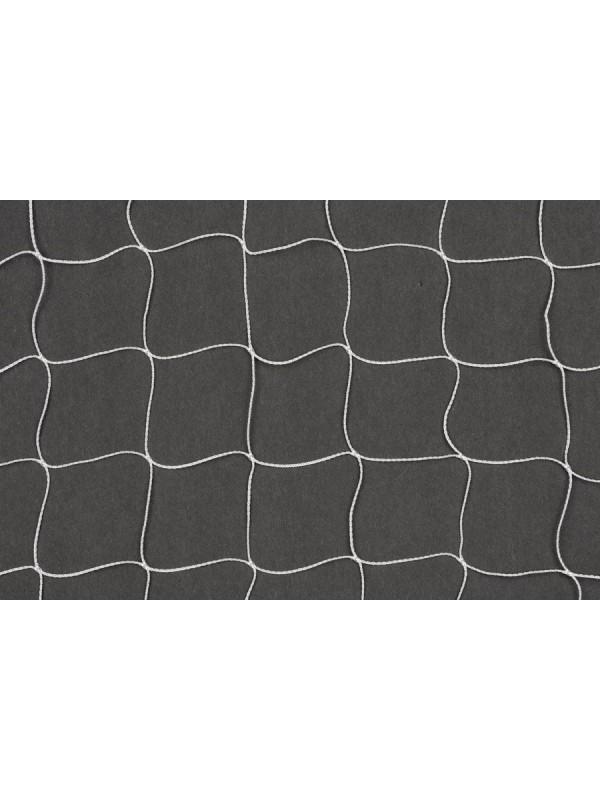 Dekorations- oder Absperrnetz aus geknotetem Polyamid, 50 mm quadratische Maschenweite, 1,1 mm Ø, in weiß