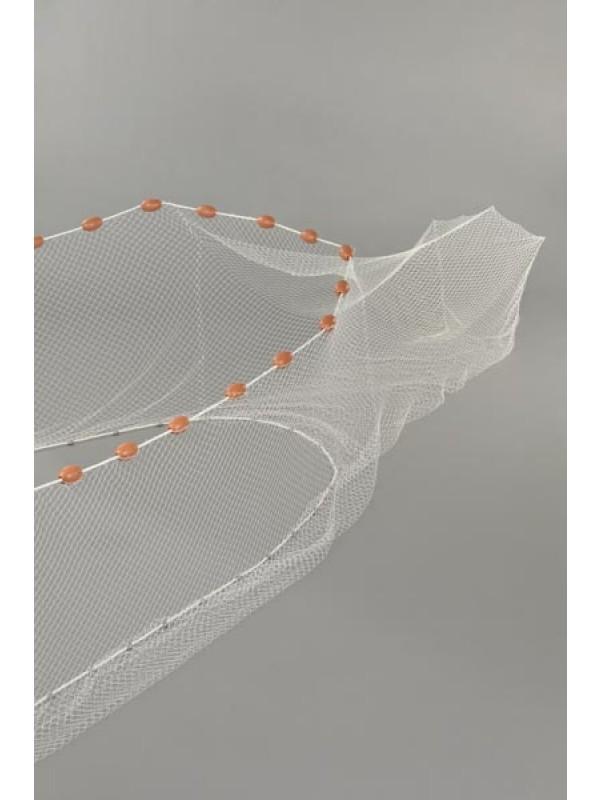 Zugnetz mit Sack Flügelhöhe Mitte 1,0 m und an den Enden 0,80 m, Gesamtlänge: 10 m