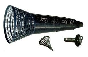 Aalreusenkorb aus Kunststoff, 2-kehlig, ca. 1,53 m lang, Bausatz.