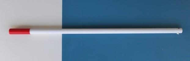 Glasfaserstiel 1,00 m lang, 30 mm Durchmesser