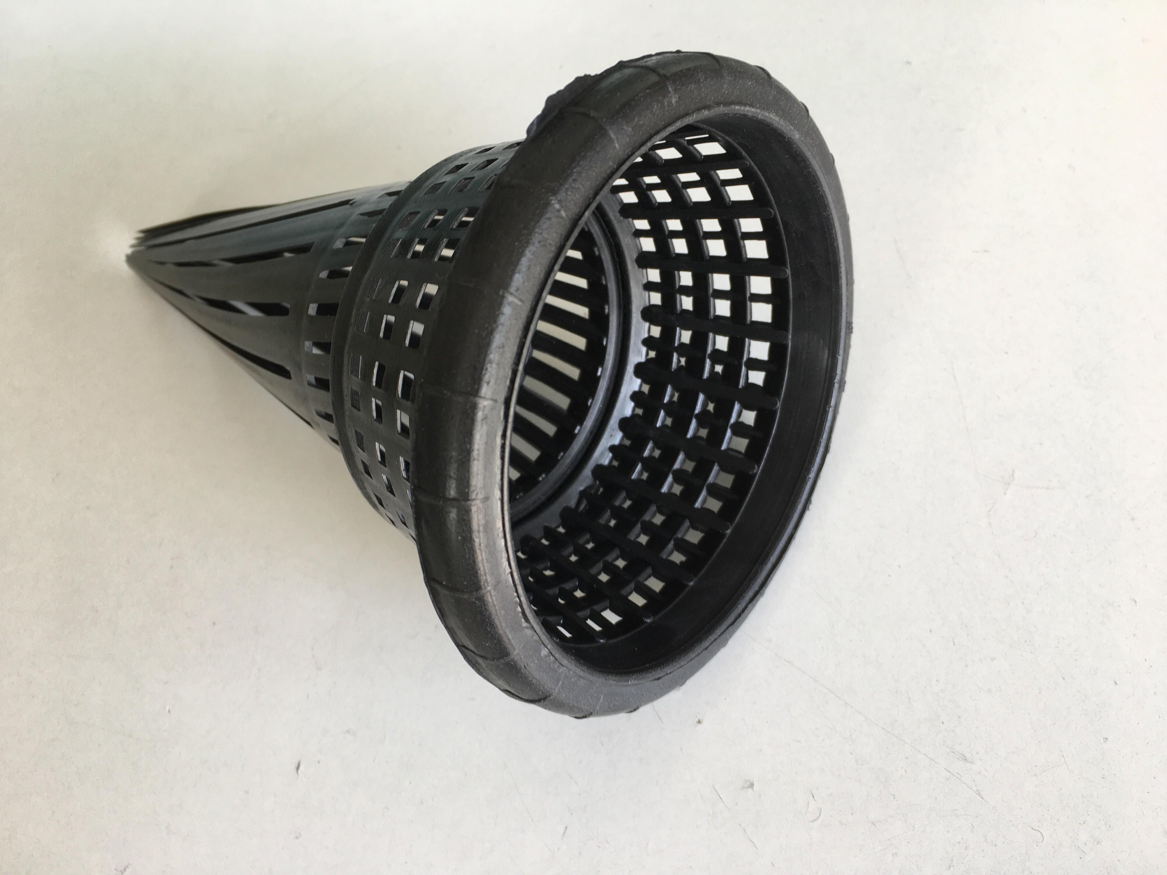 Ersatzkehle aus Kunststoff 12 cm Ø, in schwarz für Aalrohr