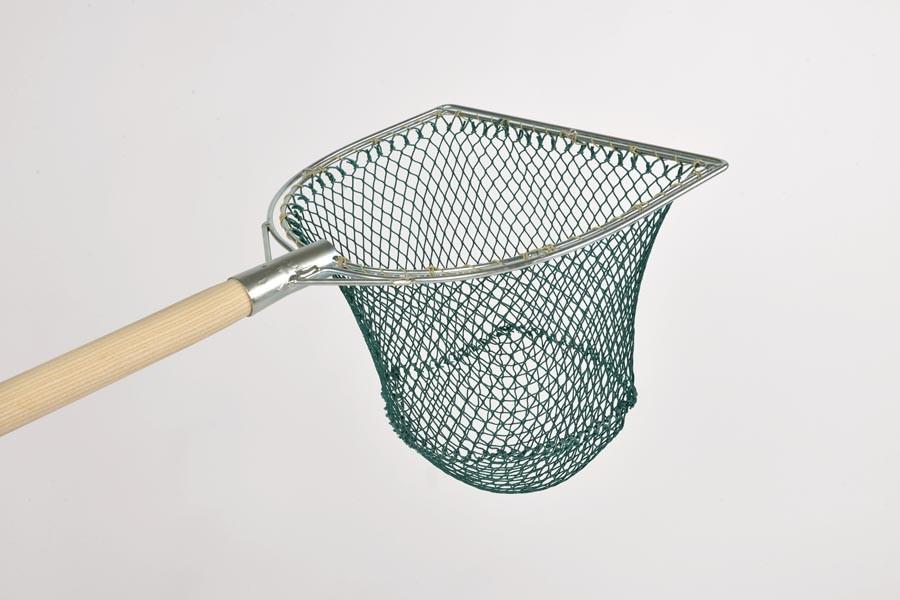 Edelstahl komplett mit Netz Kescherbügel