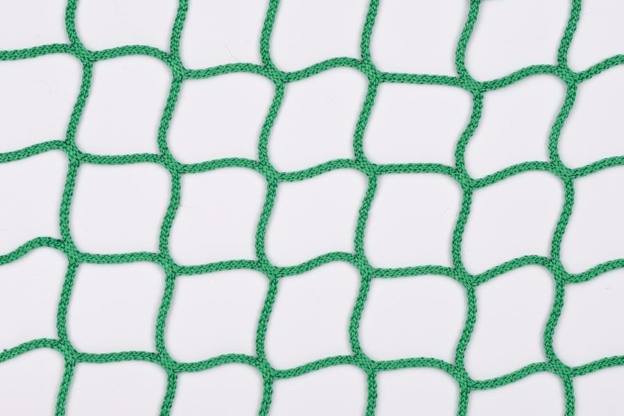 Abdecknetz aus PP-hochfest, 3 mm stark, 45 mm Maschenweite, in den Farben grün, weiß, blau, gelb, schwarz, rot oder hanffarben.