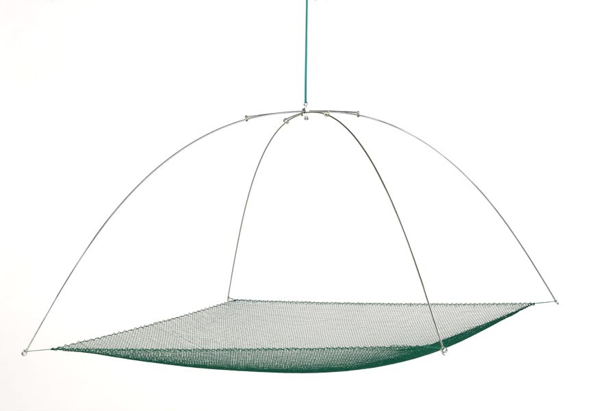 Tauchhamen, Senke oder Daubel komplett 1,0 m x 1,0 m, 15 mm Maschenweite. Set bestehend aus Bügel und Netz.